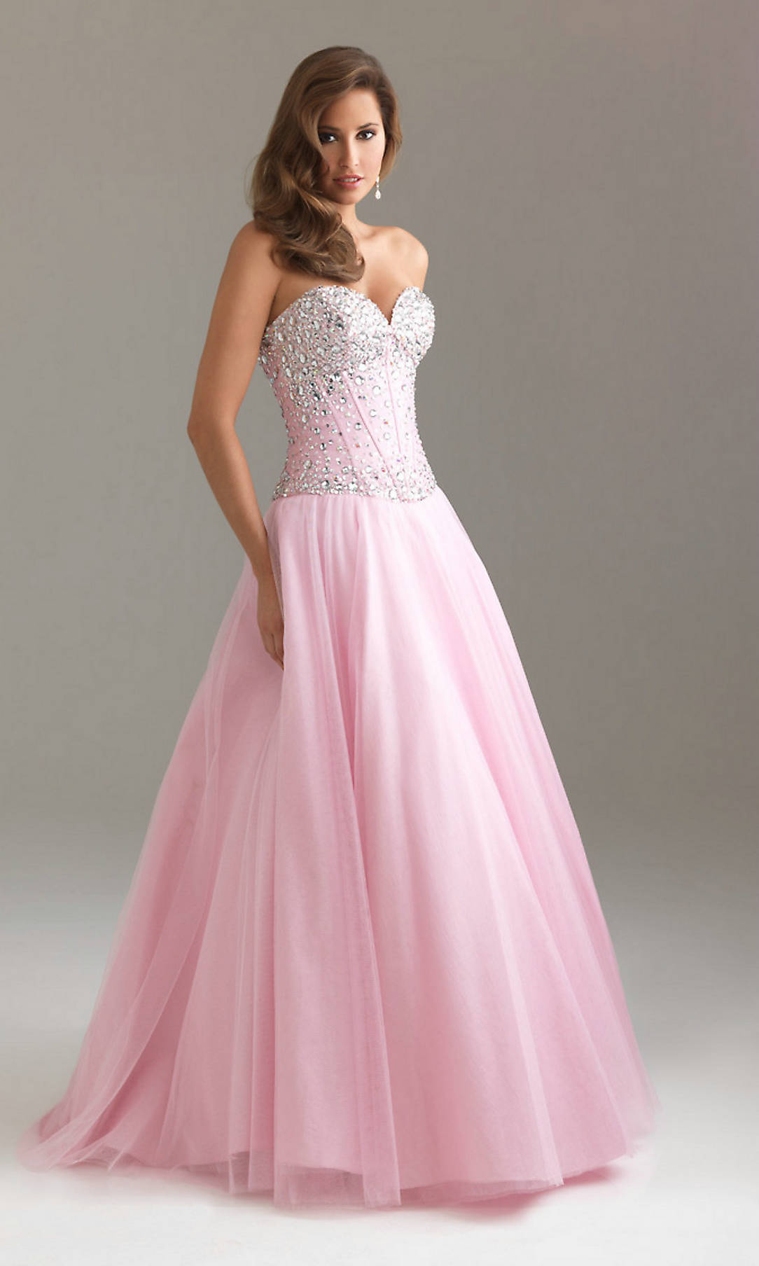 2015 Pink Beading A Line Sweetheart Neck Long Prom Dresses 2015 ...